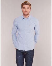 Tommy Hilfiger Blue Tjm Classics Oxford Shirt Long Sleeved Shirt for men