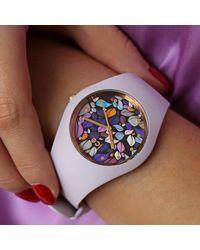 Montre flower Lilac petals Medium Montre Ice-watch en coloris Purple
