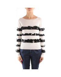 Liu Jo White Cf0116ma99e Sweater