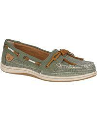 Sperry Top-Sider Green Women's Barrelfish Canvas Boat Shoe