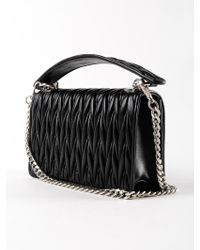 Miu Miu Black Matelasse Crossbody Bag