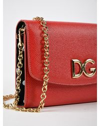 Dolce & Gabbana Red St.dauphine Wallet Bag