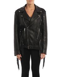 Gucci Black Deer Leather Jacket