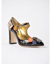 Dolce & Gabbana Multicolor Mary Jane Vit.lucido