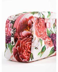 Dolce & Gabbana Red Nylon Printed Necessaire