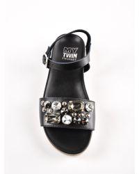 Twin Set - Black Sandal - Lyst
