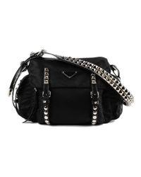 3f5de7495ae2 Lyst - Prada Shoulder Bag New Vela in Black