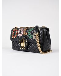 Dolce & Gabbana Black Tracolla Nappa