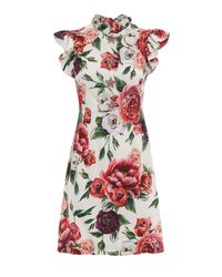 Dolce & Gabbana Multicolor Cady Printed Dress