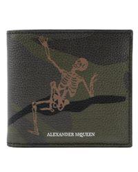 Alexander McQueen Multicolor Skeleton Billfold 8cc for men