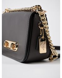 COACH - Black Swagger 20 Shoulder Bag - Lyst