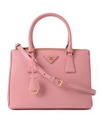 Prada Pink Galleria Handbag Saffiano Lux