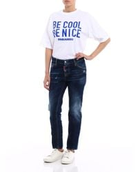 """DSquared² Blue Pants """"be Cool Be Nice"""""""