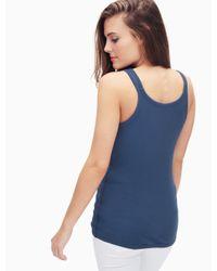 Splendid | Blue Cotton-blend Top | Lyst