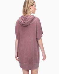 Splendid - Multicolor Cubist Active Hoodie Dress - Lyst