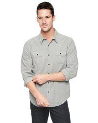 Splendid | Gray Corduroy Shirt for Men | Lyst