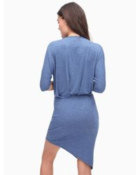 Splendid - Blue Short Sleeve Jersey Dress - Lyst