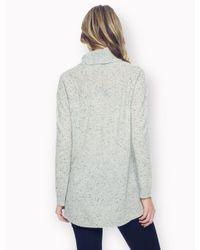 Splendid Blue 100% Cashmere Speckled Turtleneck