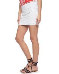 Splendid - White Light Jersey Shirred Skirt - Lyst
