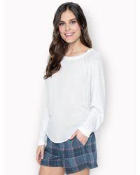 Splendid Natural Slub Jersey Long Sleeve Top