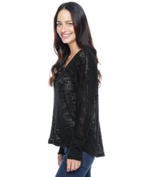 Splendid - Black Hudson Loose Knit Top - Lyst