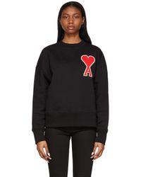 AMI Black Ssense Exclusive Ami De Coeur Sweatshirt