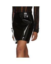 Saint Laurent ブラック パテント ミニスカート Black