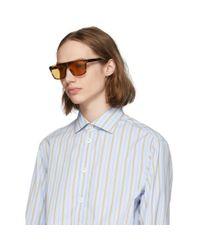メンズ Gucci トータスシェル And ブラウン オーバーサイズ Wearable サングラス Multicolor