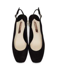 Chaussures a talons hauts et brides arriere en suede noires Alice Sophia Webster en coloris Black