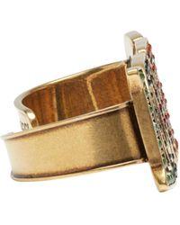 Gucci - Metallic Gold 'loved' Palm Cuff - Lyst