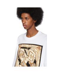 メンズ Palm Angels ホワイト フーラード T シャツ White