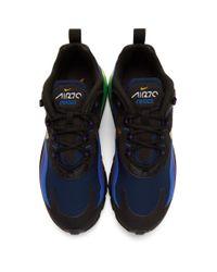 メンズ Nike ブラック And ゴールド エアマックス 270 リアクト スニーカー Black