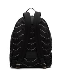 メンズ Givenchy ブラック And ホワイト ロゴ アーバン バックパック Black