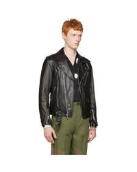 3.1 Phillip Lim Black Leather Biker Jacket for men