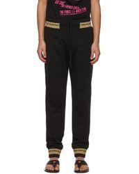 メンズ Versace Jeans ブラック Lunar New Year ラウンジ パンツ Black
