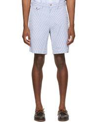 メンズ Polo Ralph Lauren ブルー & ホワイト ショーツ Blue