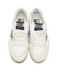 Golden Goose Deluxe Brand ホワイト And グリーン スーパースター スニーカー White