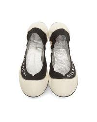 Givenchy オフホワイト Millie バレリーナ フラット White