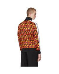 メンズ Palm Angels マルチカラー And ブラック フレーム トラック ジャケット Multicolor