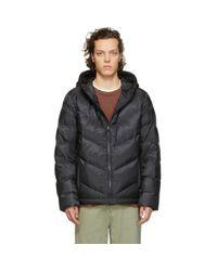 Woolrich Black Down Chevron Jacket for men