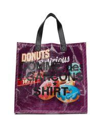 Cabas a logo bleu Donut Comme des Garçons en coloris Red