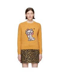 Miu Miu Disney Edition オレンジ ウール Aristocats セーター Multicolor
