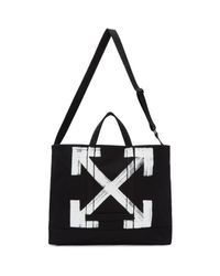 Off-White c/o Virgil Abloh Black Brushed Arrows Tote
