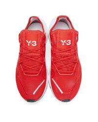 メンズ Y-3 レッド アディゼロ スニーカー Red