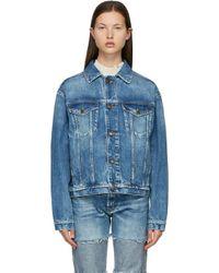 Maison Margiela ブルー オーバーサイズ デニム ジャケット Blue
