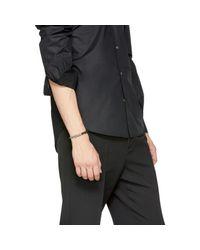 Emanuele Bicocchi - Metallic Silver & Black Beaded Bracelet for Men - Lyst