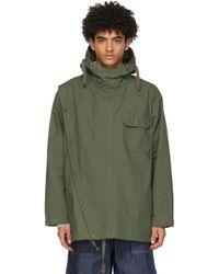 メンズ Engineered Garments カーキ Sonar Shirt ジャケット Green