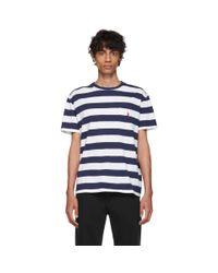 Polo Ralph Lauren White And Navy Pocket T-shirt for men