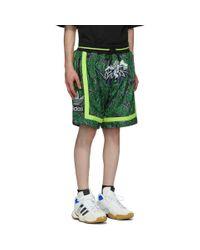 メンズ Sankuanz Adidas Originals Edition リバーシブル ブラック And グリーン バスケットボール ショーツ Black
