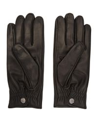 Prada - Black Lambskin Gloves for Men - Lyst
